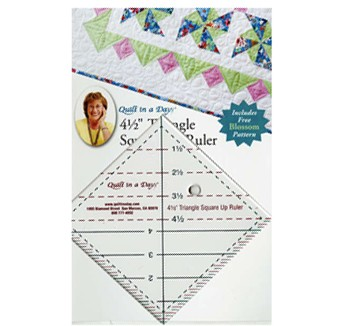 4-1/2in Triangle Square Up, Includes FREE Blossom Pattern