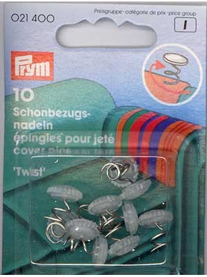 Spiral-type Twist Pins, 10 count