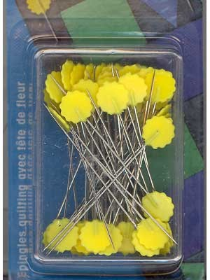 Prym Quilter's Flat Flower Pins, 50mm, 50 count