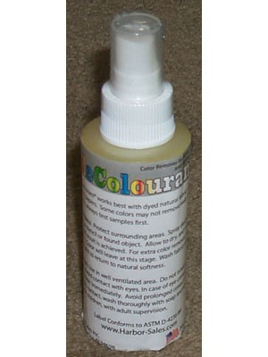 Decolourant 4oz. Spray, Colour Remover For Fabric And Papers