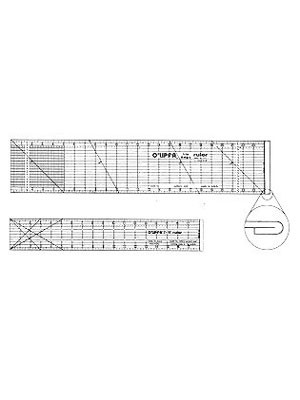 """O'lipfa Lip Edge Ruler, 5"""" x 24"""" (This ruler is not a true T-square and does not allow for 100% accuracy in delivering a 90 degree angle)"""