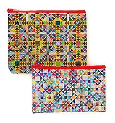 Addicted To Scraps Eco Pouch Set Featuring Designs by Bonnie K. Hunter