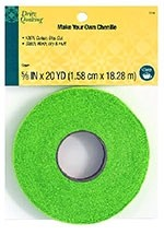 """Dritz Quilting Make Your Own Chenille, 100% Cotton, 5/8""""x 20YD(1.58cm x 18.28M), Green"""