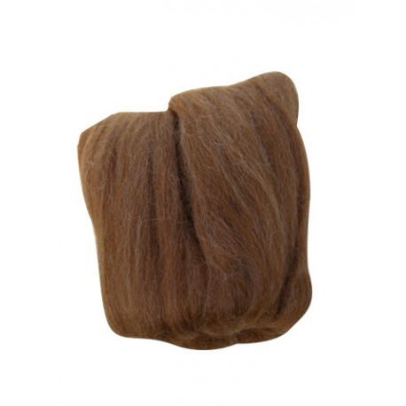 Clover Natural Wool Roving, Caramel