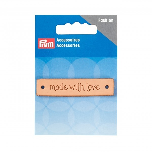 Prym 'Made With Love' Leather Label, Natural, Rectangle