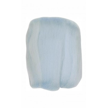 Clover Natural Wool Roving, Light Blue