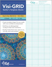 """Visi-Grid Quilt Template - Sheets 8.5"""" by 11"""" - 4 sheets - 1/8"""" Grid"""