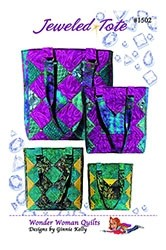 Jeweled Tote Bag Pattern by Wonder Woman Quilts