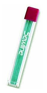Sewline Erasable Pencil Lead Refill, 09mm, 6 Count, Green