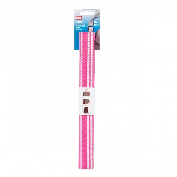 Prym Strap For Bags, 30mm, Pink/White