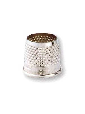 Tailor's Thimbles, Steel, 17mm, Silver-Colored (Uncarded)