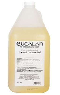 Eucalan Natural Unscented No Rinse Delicate Wash (Lanolin Enriched Concentrate), 4 Litres (1 Gallon)