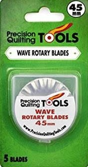 Precision Quilting Tools Wave Rotary Blades, 45mm, 5 count