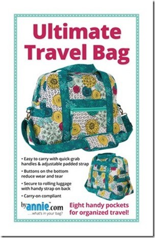 Ultimate Travel Bag Pattern: 8 handy pockets for organized travel (ByAnnie.com)
