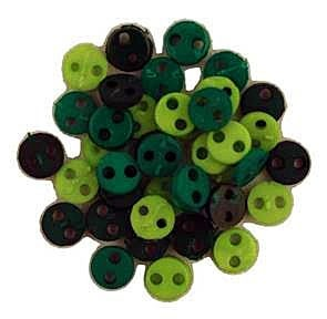 Rainforest Micro Buttons, 4mm, 40 count