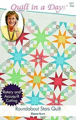Roundabout Stars Quilt Pattern by Quilt in a Day