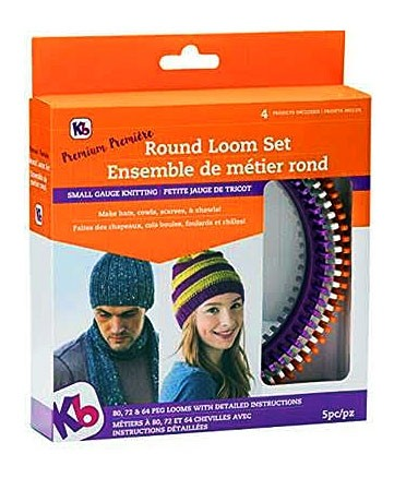'Premium' Round Loom Set, Includes 3 Looms, Instructions & 4 Projects