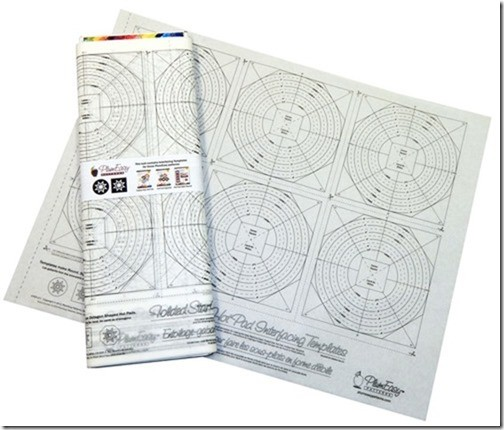 Folded Star Interfacing Templates Refills By the Bolt, 6 Template Panel, 25 Panels - PlumEasy