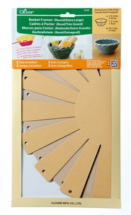 """Basket Frames Round  """"Extra Large"""", approx finish size 9.75''x3.5'',  2  sets in the package"""