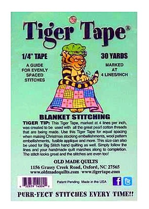 Tiger Tape 1-4 inch guide for evenly spaced stitches 12 lines per inch by Tiger Tape