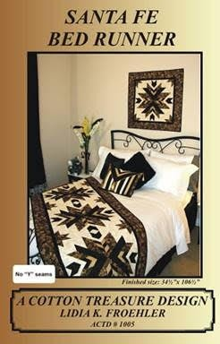 Santa Fe Stars Bed Runner Pattern by Lidia K. Froehler of A Cotton Treasure Design