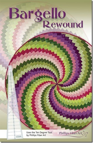 Bargello Rewound Pattern by Phillips Fiber Art using the 10 Degree Wedge Ruler. Mini 30 Degree Wedge Included