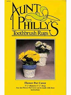 Aunt Philly's Flower Pot Cover Rug Pattern