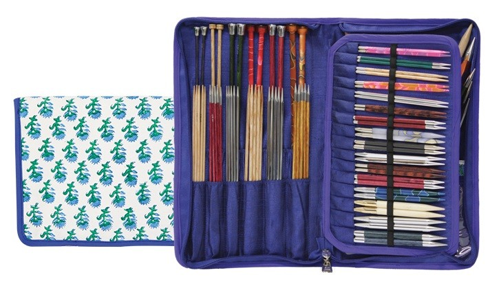 Knitter's Pride Assorted Needles Case - Glory Hand Block Printed Fabric