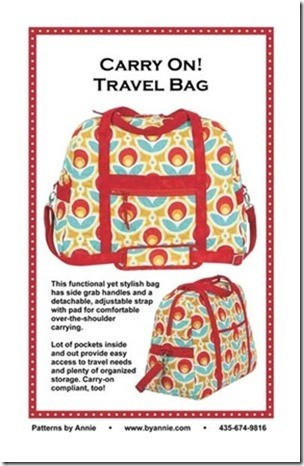 Carry On! Travel Bag Pattern (ByAnnie.com)