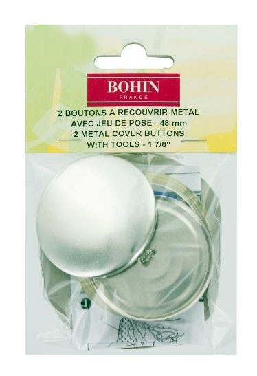 Bohin Metal Cover Buttons, 48mm, 2pc