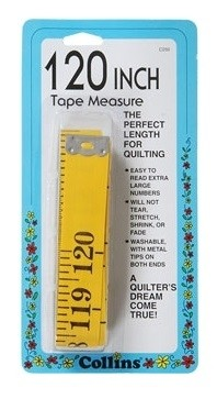 "Collins Fibreglass Tape Measure, 120"" (The Perfect Length For Quilting!)"