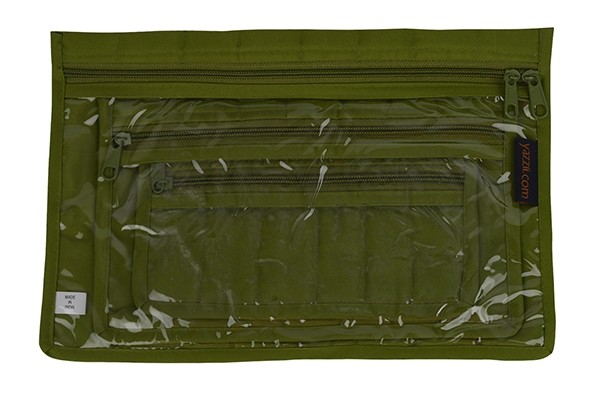 Yazzii Notions 3pc Pouch Set, Green