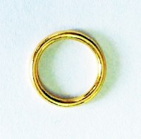 Stitch Marker Rings, Metal (Not Plastic), Gold, 8mm, 100 pieces in a bag, Bulk (Price Per Bag)
