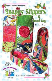 Snappy Slippers & Travel Bag Pattern,  Ladies Sizes 5 -11