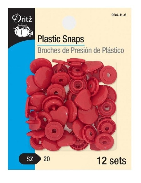 Silver 12-Count Round 984-R-65 Plastic Snaps New Version Size 20