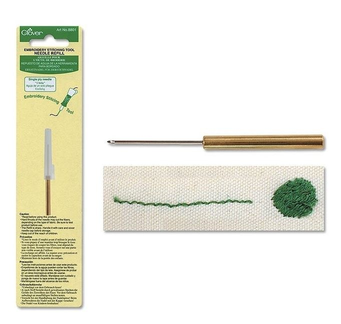 Clover Punch Needle Tool Needle Refill, 1 Ply Needle