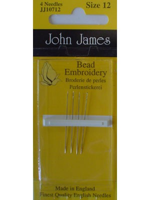 John James Bead Embroidery Needles, Size 12, 4 Count