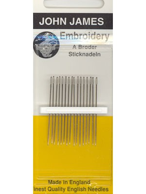 John James Embroidery Needles, Size 1, 12 Count