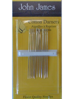John James Cotton Darners, Size 9, 12 Count