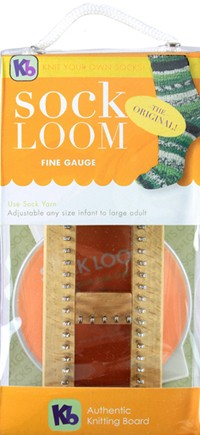 Authentic Knitting Board - Sock Looms - Sock Loom, Fine Gauge,  with DVD,  Instructions,  and Knit Hook