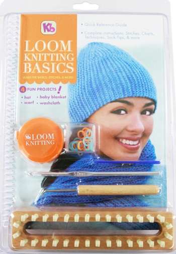 Authentic Knitting Board - Loom Knitting Basics  Kit  with  Accessories and Instructions