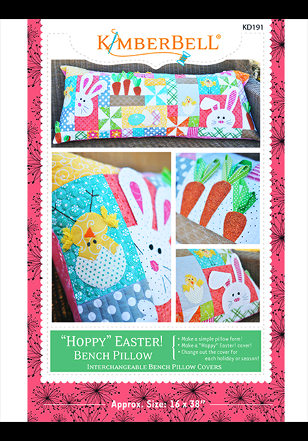 "Kimberbell Hoppy Easter Bench Pillow, 16"" x 38"" (Sewing Version)"