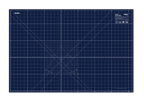 "OLFA 24"" x 36"" Double Sided Self-Healing Rotary Cutting Mat in Navy Blue"