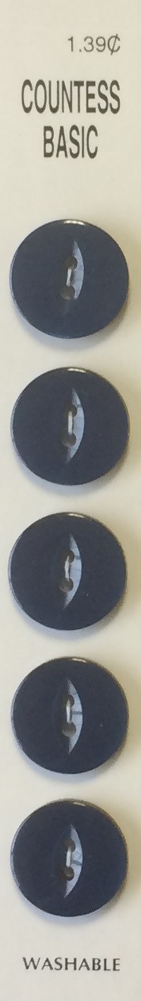 Slimline Buttons, 2 Hole, Size 26, Navy, 5 Count