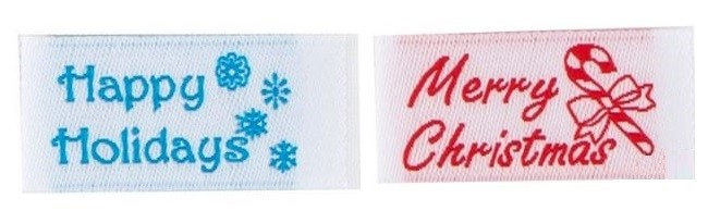 Tag It Ons Merry Christmas and Happy Holidays Tags, 12pc. (6pc. each)