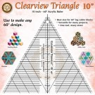 """Marci Baker Clearview Triangle™  10""""  Acrylic Ruler - Use to make any 60 degree design"""