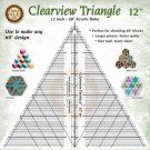"""Marci Baker Clearview Triangle™  12"""" - 60 degree  Acrylic Ruler - Use to make any 60 degree design"""