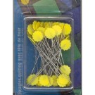 Quilter's Flat Flower Pins, 50mm, 50 count