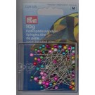 Pearl Headed Pins, 10g, 38mm, assorted colours, 90 count