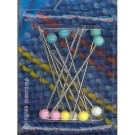Patchwork Pins, 50x1.15mm, 10 count, assorted colours